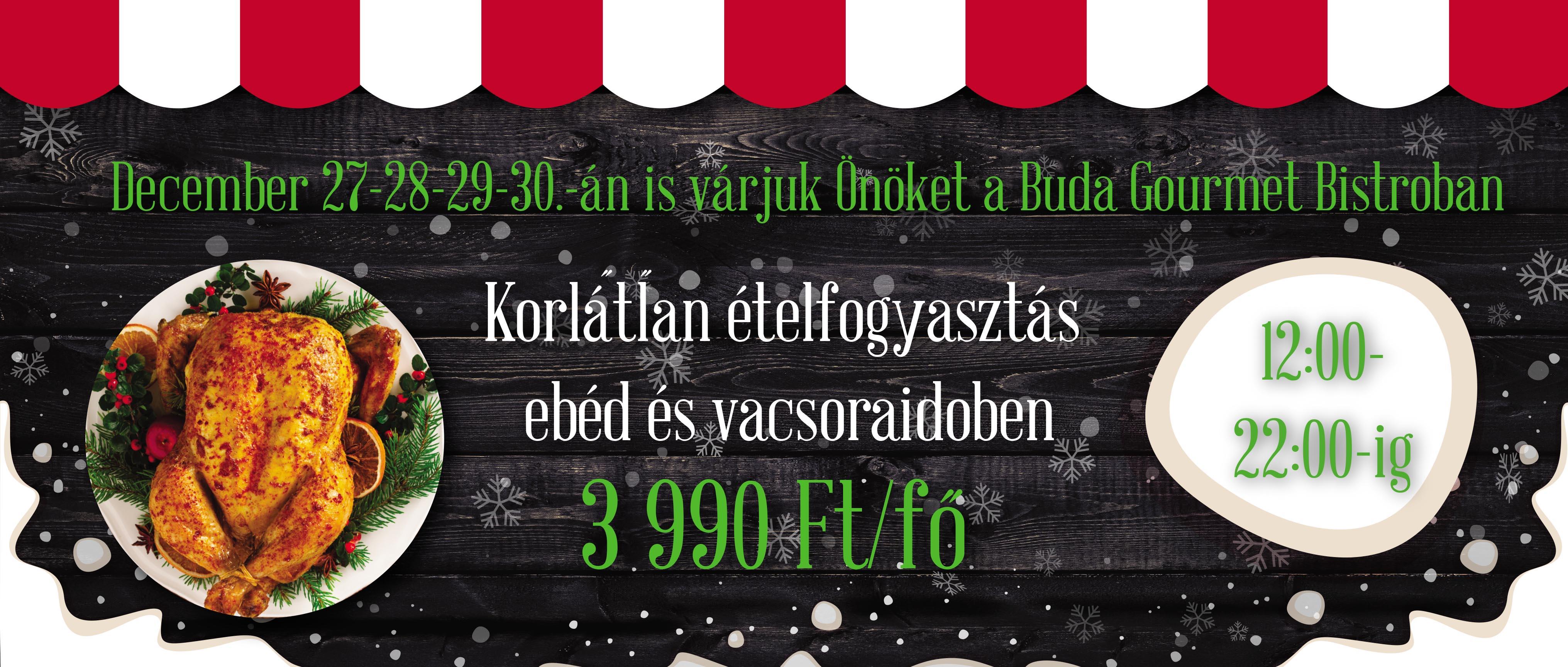 4a6a0137b2 Buda Gourmet Étterem - Svédasztal és A'la carte étlap - Ünnepélyes ...